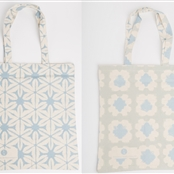 Organic Cotton Tote Bag - Duck Egg/Forget-me-not