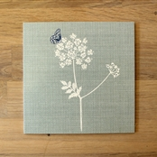 Cow Parsley - Note Card - Duck Egg, Cornflower