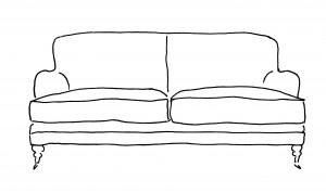Sofa drawings - traditional