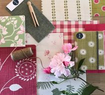 July Mood board – Pink and Green
