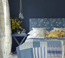 September Mood board – Blue and Saffron