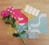 April Moodboard – teal, sweet pea and lime