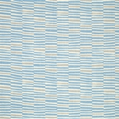 Hand Printed Stripe - Powder Blue, Clay