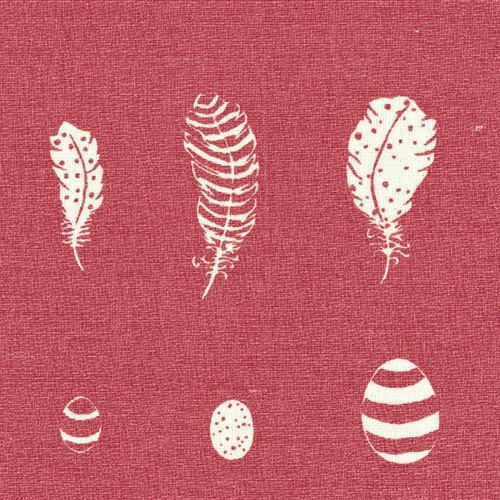 Feather & Egg - Raspberry