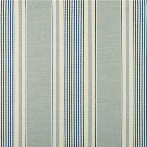 French Ticking - Duck Egg, Denim