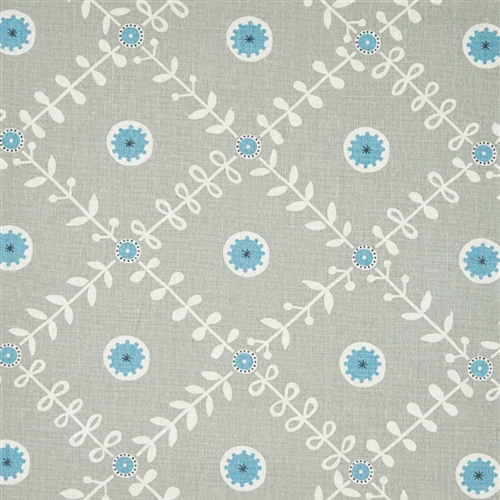 Fruit Garden - Pigeon, Powder Blue, Charcoal