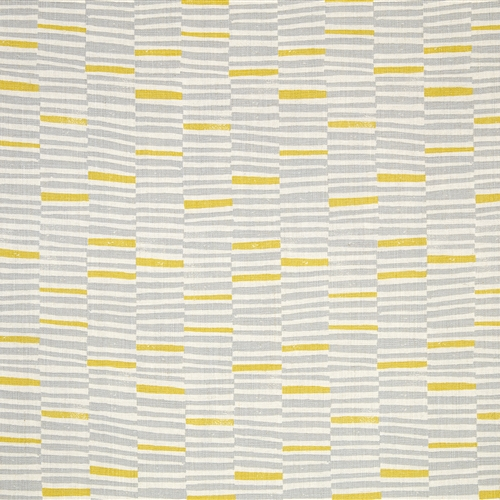 Hand Printed Stripe - Clay, Lemon