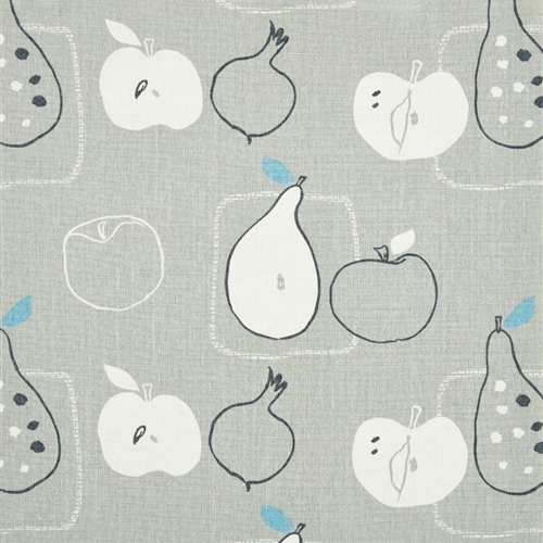 Apples and Pears - Pigeon, Powder Blue, Charcoal - D