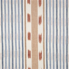 Lapland Stripe - Cornflower, Terracotta, Damask