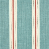 Stockholm Stripe  - Teal, Tomato, Winter