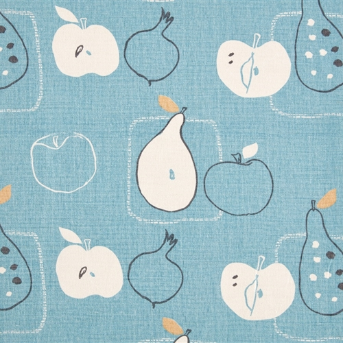 Apples and Pears - Powder Blue, Straw, Charcoal