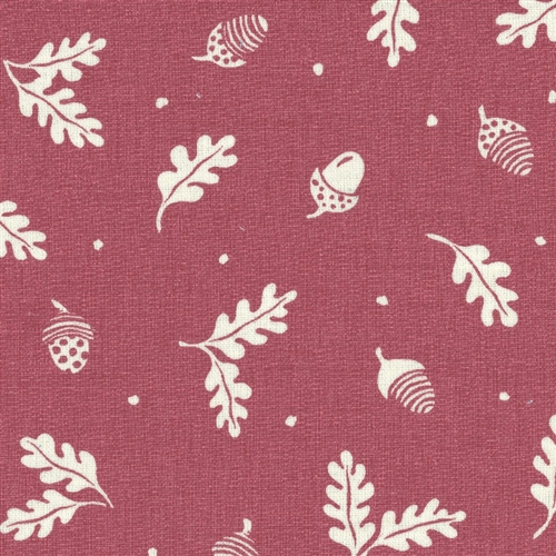 Acorn and Leaf - Cranberry