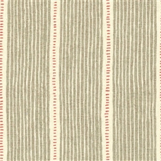 Stripe and Dash - Stone, Cranberry - D