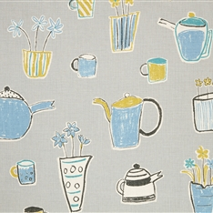 Tea Time - Clay, Powder Blue, Aquamarine, Lemon, Winter - D