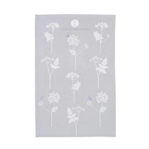 Cow Parsley- Tea Towel - Duck Egg, Cornflower
