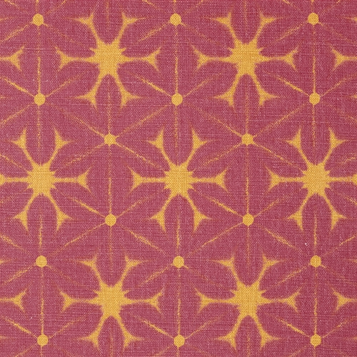 Pair of Roman Blinds in Shibori - Sweet Pea and Tangerine - LH (W:55cm x D:195cm) - RH (W:50cm x D:195cm)