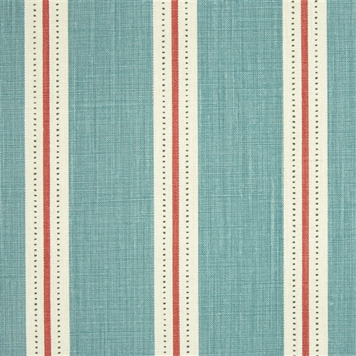 Stockholm Stripe - Teal, Tomato, Winter - TD - remnants