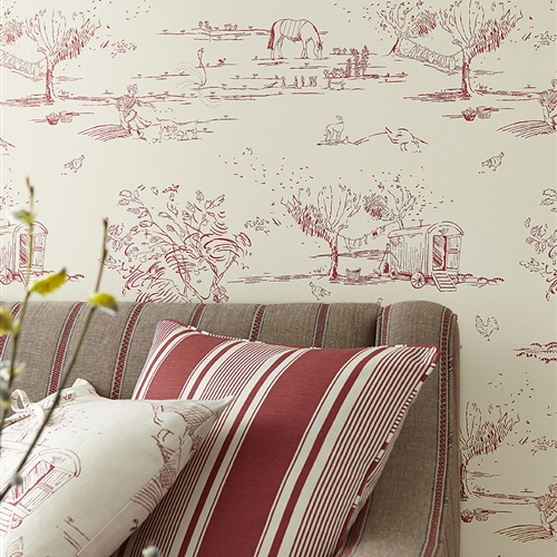 For the Love of Rose - Wallpaper - Raspberry