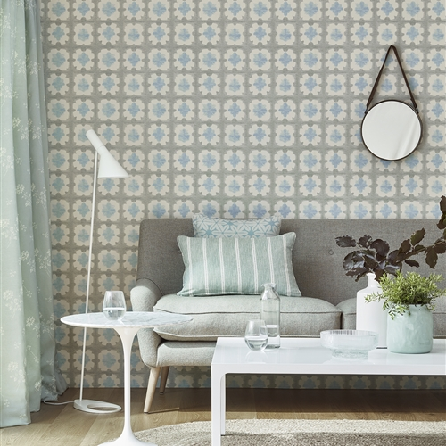 Origami - Wall Covering - Duck Egg, Forget-me-not