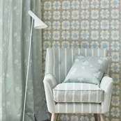 Origami - Wall Covering - Duck Egg, Forget-me-not - D