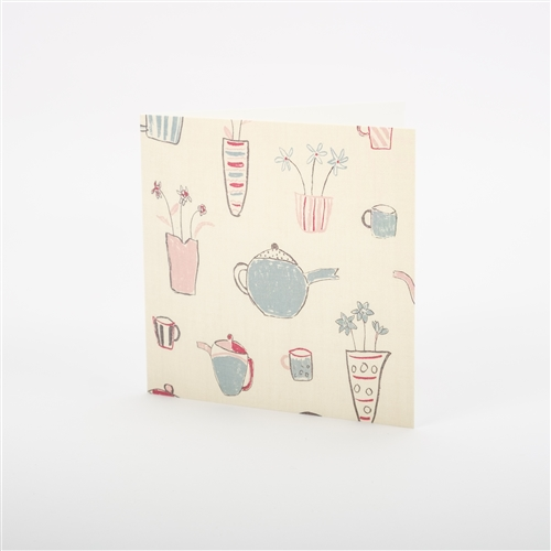 Note Card - Tea Time - Lily Pink and Speedwell