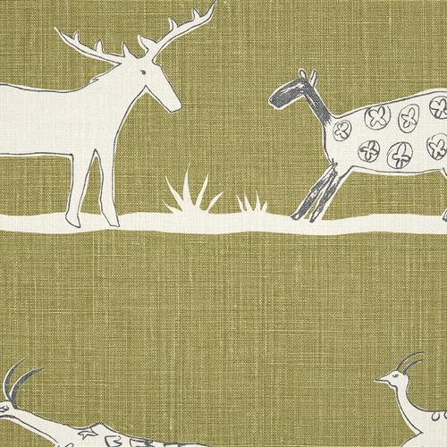 Roman Blind - Wild & Free Kale and Charcoal (86cm width x 162cm drop)