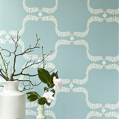Up the Garden Path - Wall Covering - Teal