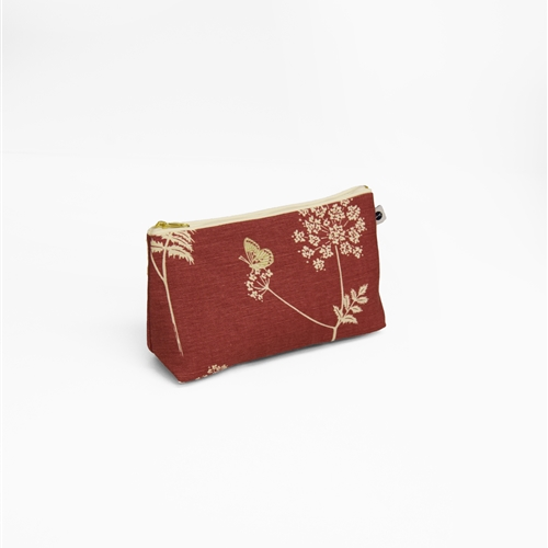 Cow Parsley - Washbag - Cranberry, Stone