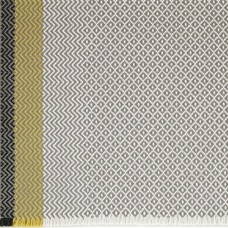 Geometric Rug - Grey, Saffron, Winter