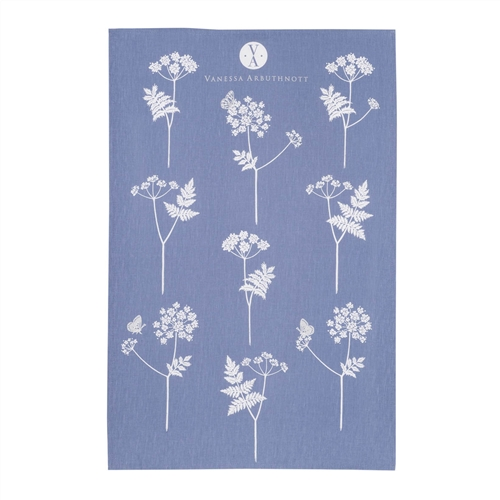 Cow Parsley - Tea Towel - Cornflower, Duck Egg