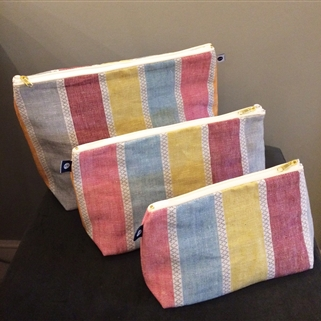 Scandi Stripe - Wash Bag - Warm