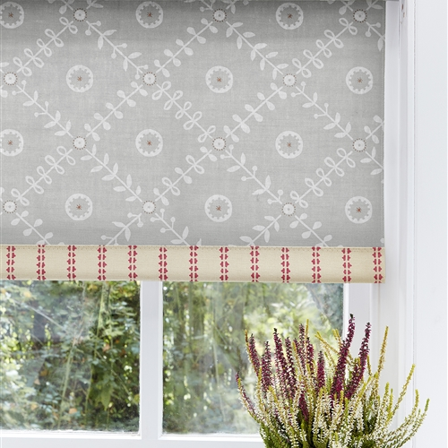 80cm Pair of Roller Blinds in Fruit Garden Clay, Sweet Pea - (80cm x 95cm)