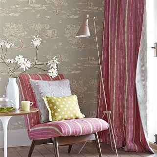 For the Love of Rose - Wallpaper - Clay, Damson