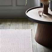 Herringbone Rug - Rose