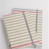 Lapland Stripe Notebook - Pigeon, Forget-me-not, Damson