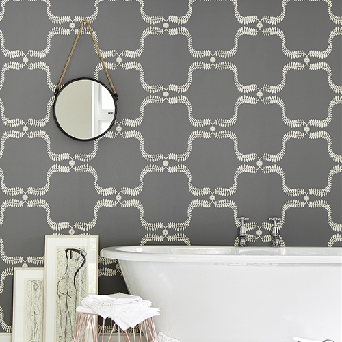 Up the Garden Path - Wall Covering - Charcoal