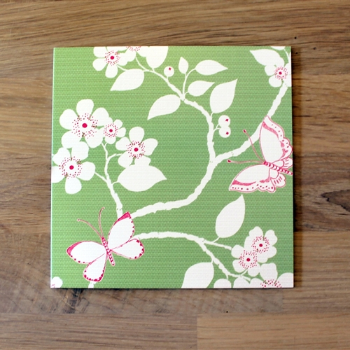 Flora & Fauna - Note Card - Apple Green, Sweet Pea