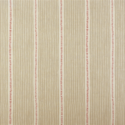 Pair of Roman Blinds in Stripe & Dash - Limestone and Raspberry - LH (W:55cm x D:195cm) - RH (W:50cm x D:195cm)